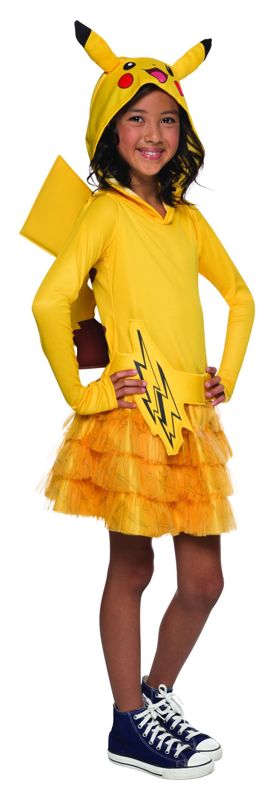 Costume enfant Pikachu fille large