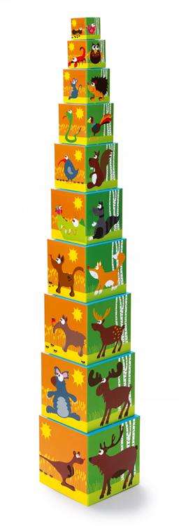 Pyramide à empiler animaux du monde