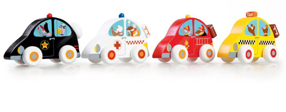 Scratch - Petite voiture en bois assorties