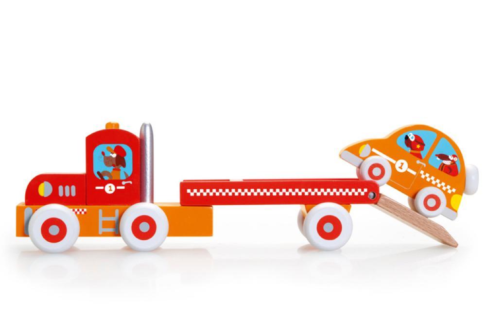 Camion et voiture de course