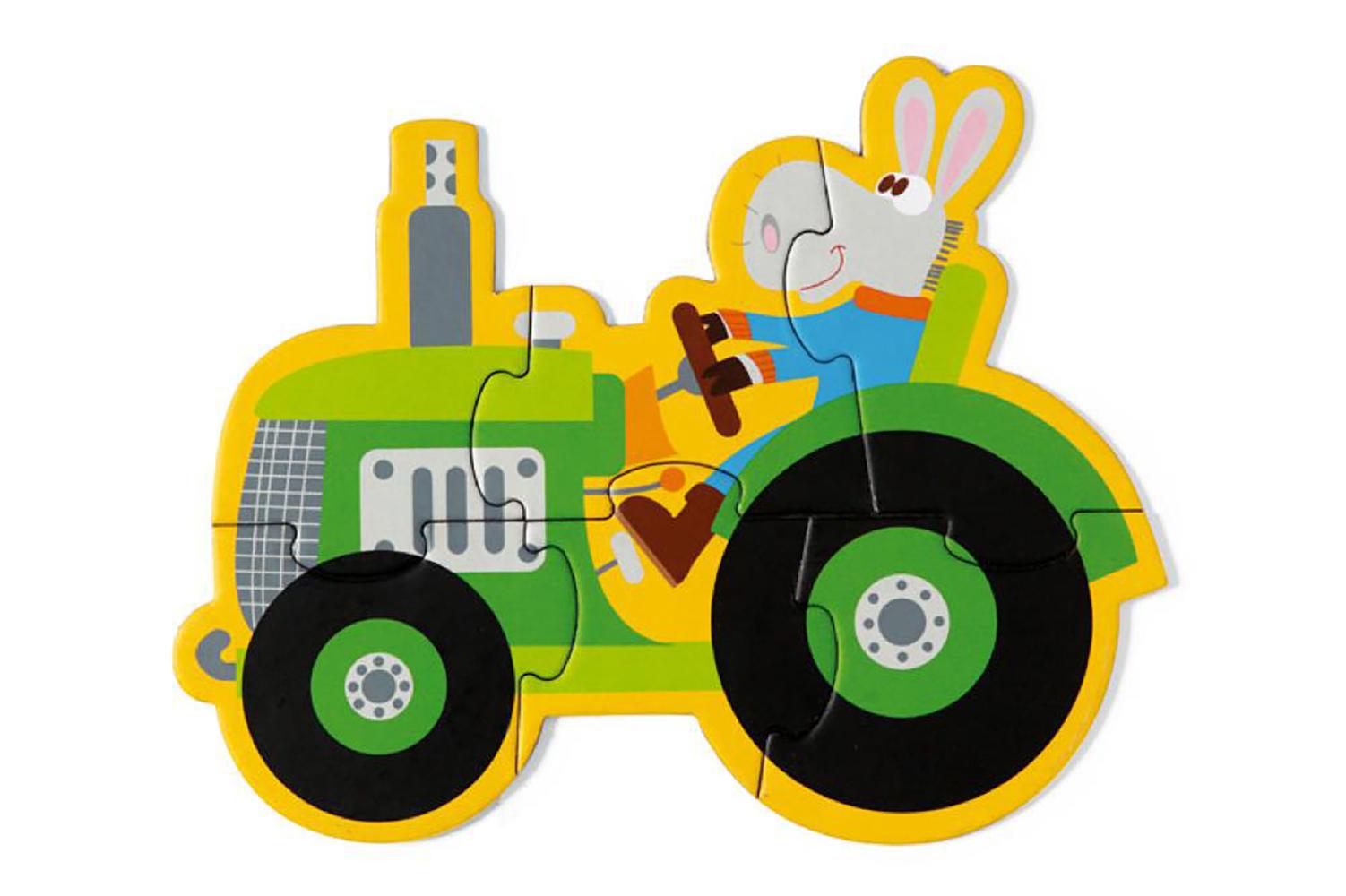 Scratch - 5 Casse-tête de la ferme 3-4-5-6-8 pièces