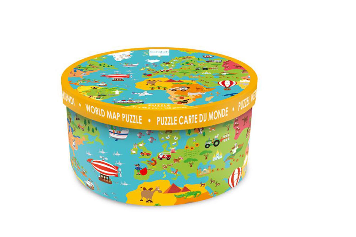 Casse-tête XXL Carte du monde 150 pièces