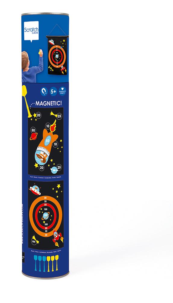 Jeu de dards magnétiques double-face Astronaute