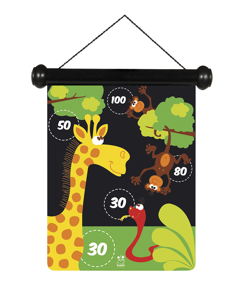 Jeu de dards magnétiques double-face Zoo