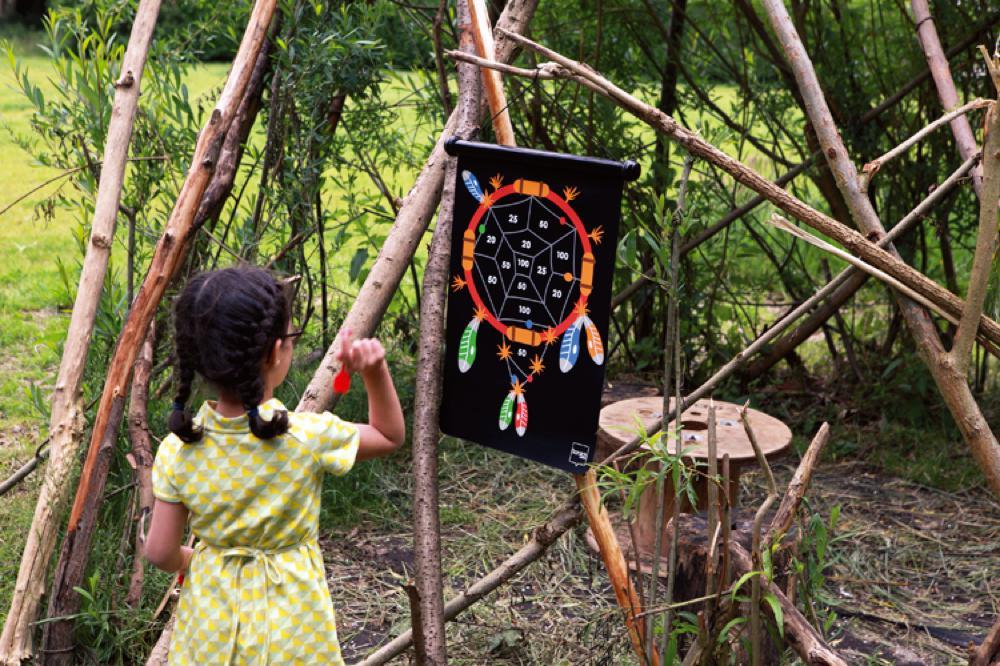 Jeu de dards magnétiques double-face Indiens