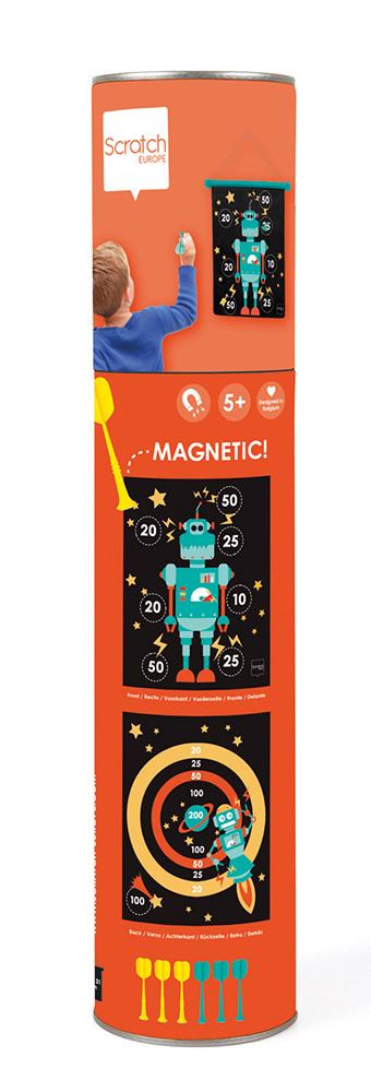 Jeu de dards magnétiques double-face Robot