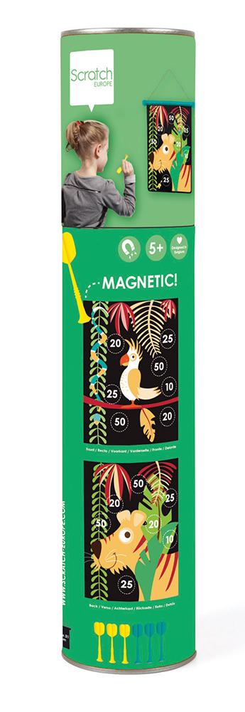 Jeu de dards magnétiques double-face Jungle tropicale