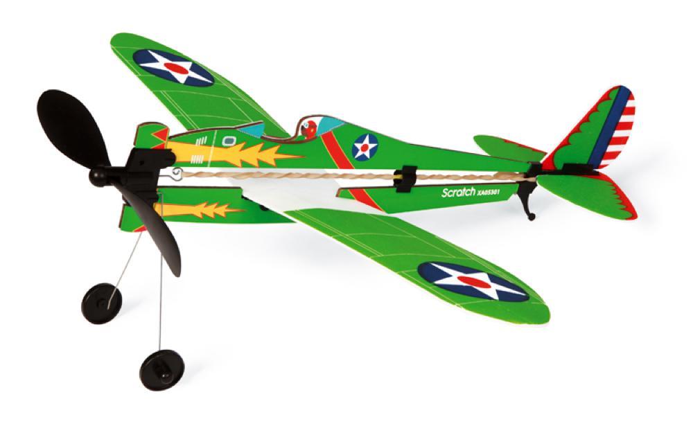Avion à remontoir en mousse Collection Armée