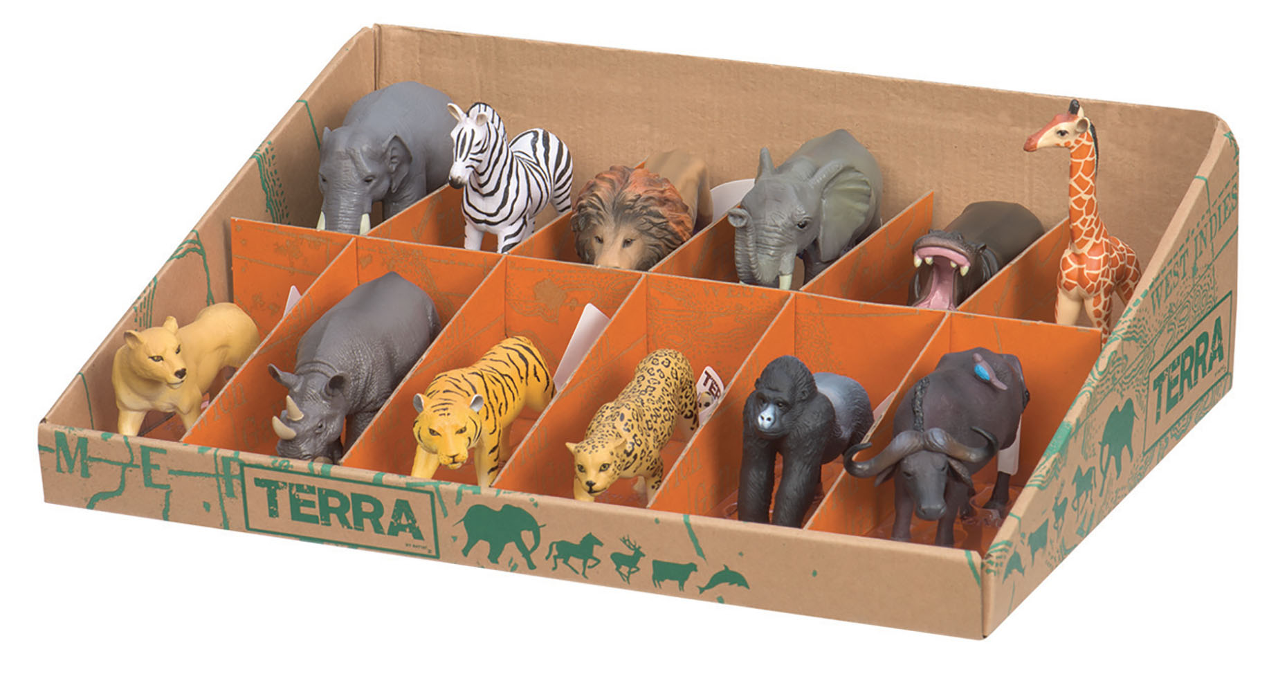 Terra - Animaux sauvages assortis