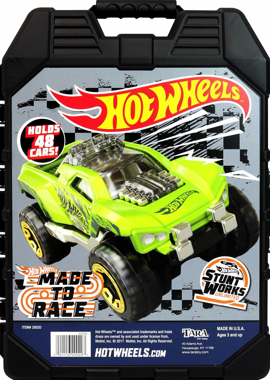 Hot Wheels - Étui de transport 48 véhicules - Styles variés