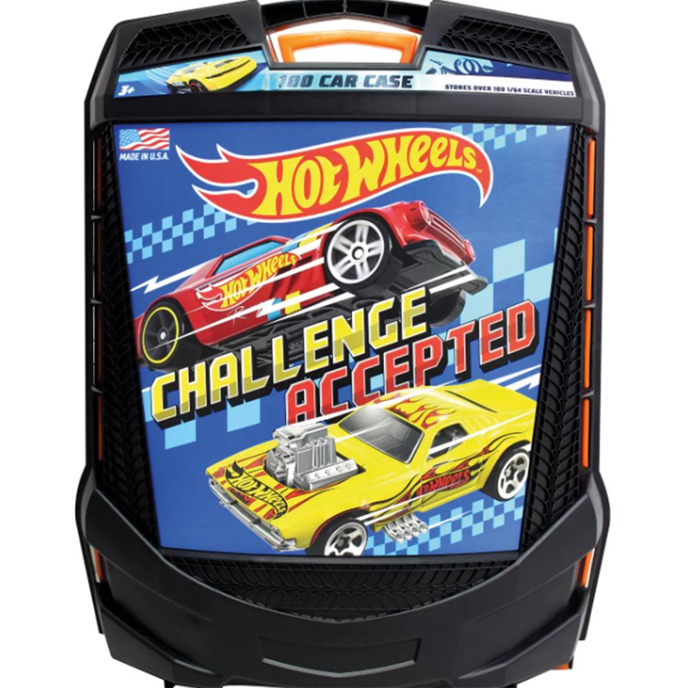 Hot Wheels - Étui de transport 100 véhicules - Styles variés