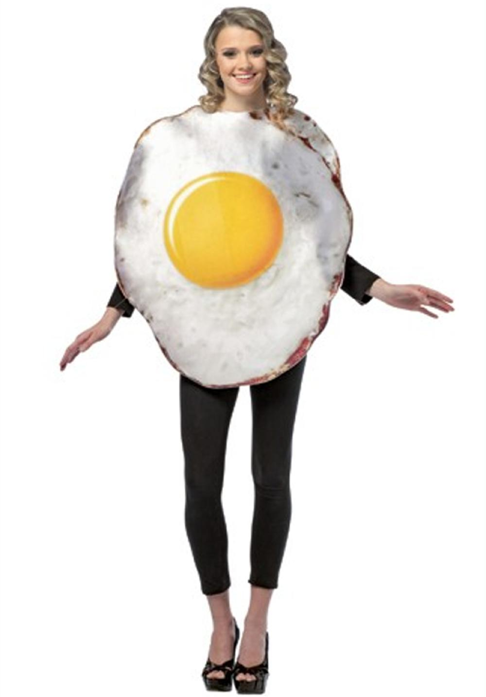 Costume Adulte Oeuf frit taille unique