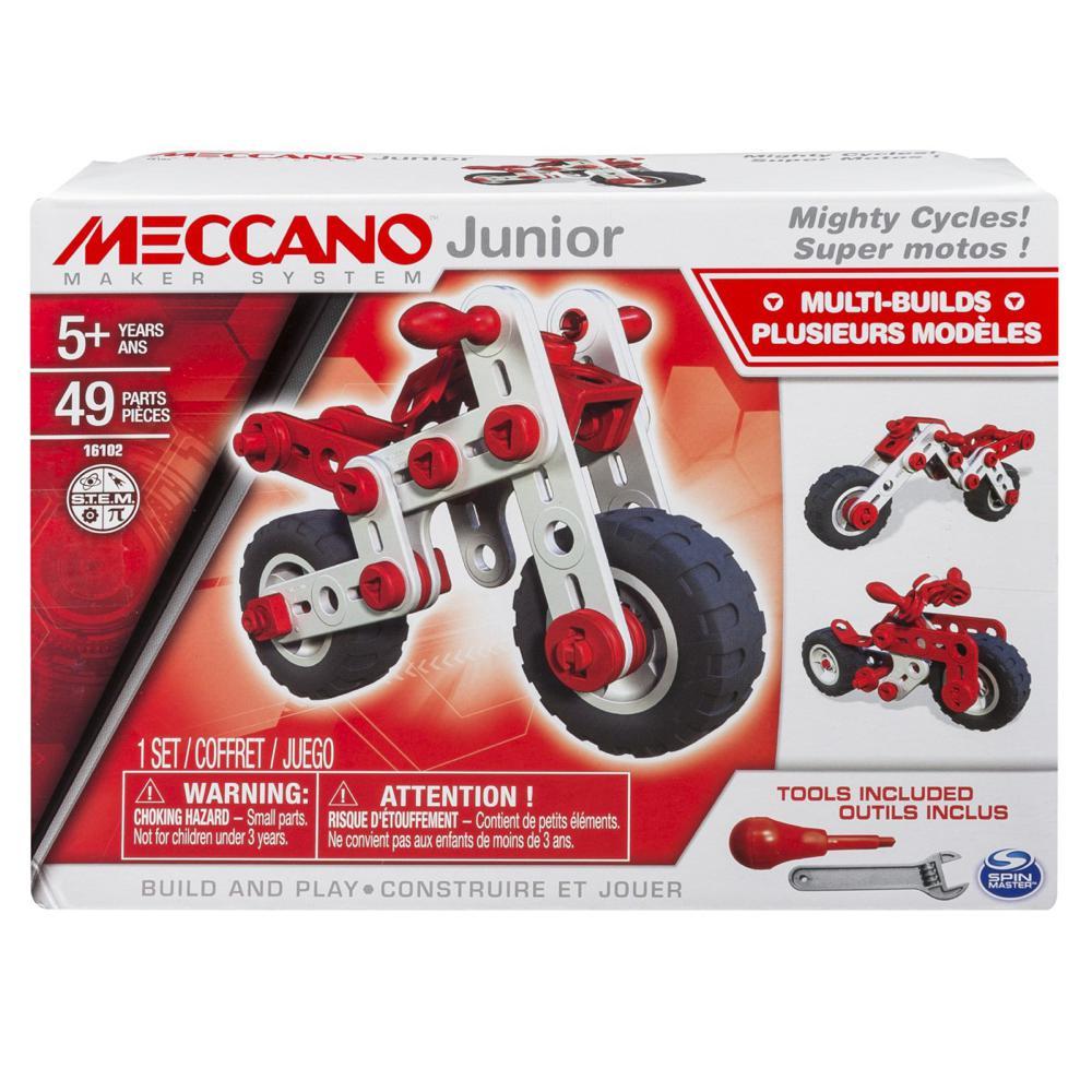 meccano junior super motos 49 pi ces club jouet achat de jeux et jouets prix club. Black Bedroom Furniture Sets. Home Design Ideas