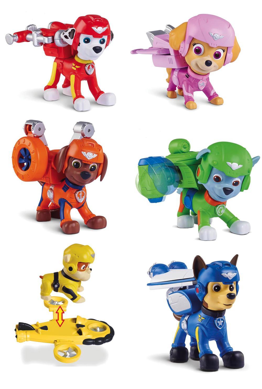 Pat'Patrouille Figurines de secours volantes 6 modèles assortis