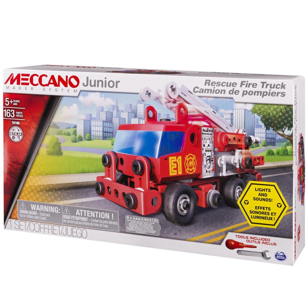 Meccano Jr. - Camion de pompier 163 pièces