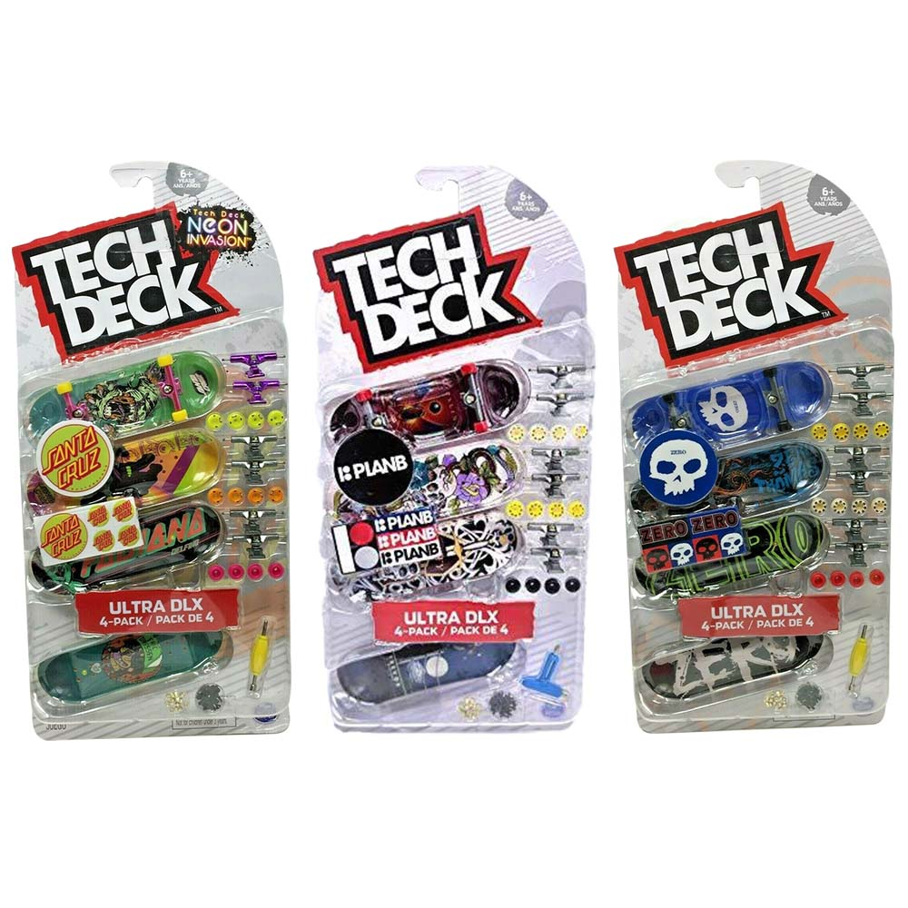 Tech Deck Ensemble de 4 planches à doigt
