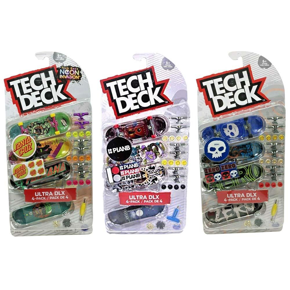 Tech Deck - Ensemble de 4 planches à doigt