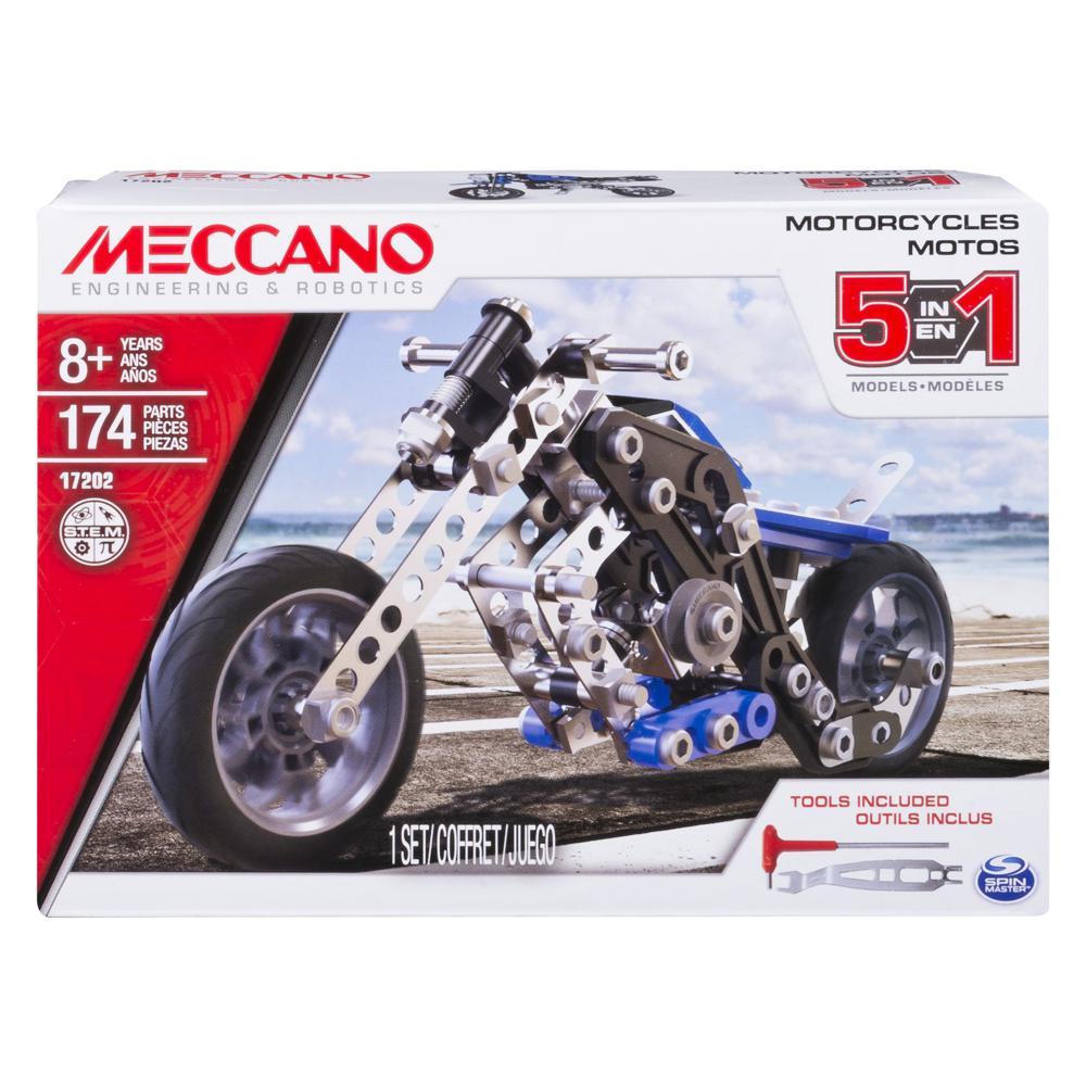 Meccano - Ensemble 5 modèles - Moto