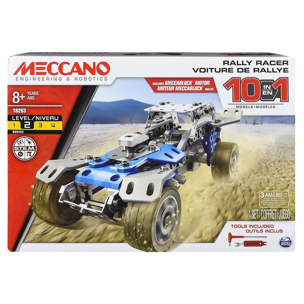 Meccano - Ensemble 10 modèles - Voiture de Rallye