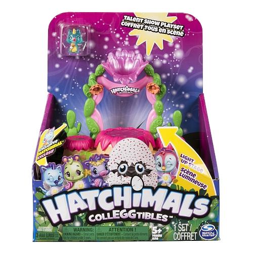 Hatchimals CollEGGtibles - Coffret Tous en scène avec effets lumineux et figurine Hatchimals