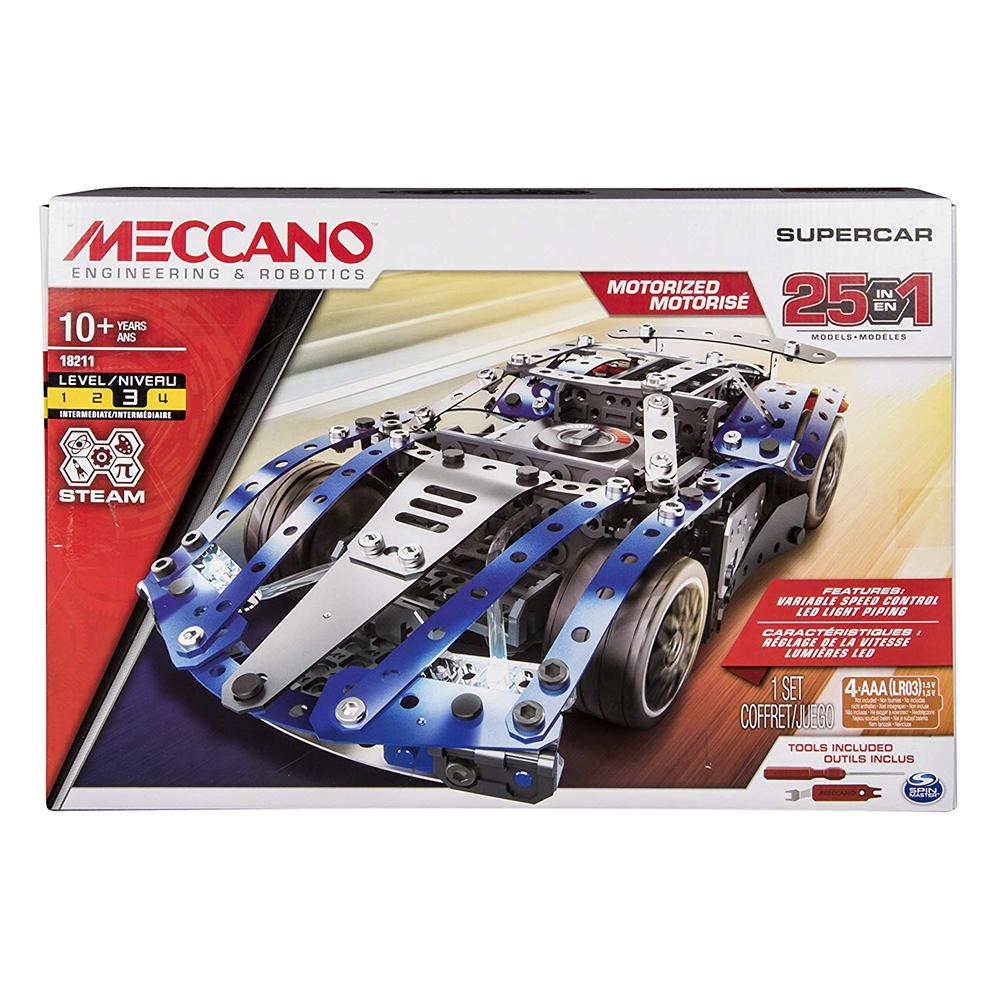 Meccano - Ensemble 25 modèles - Super voiture