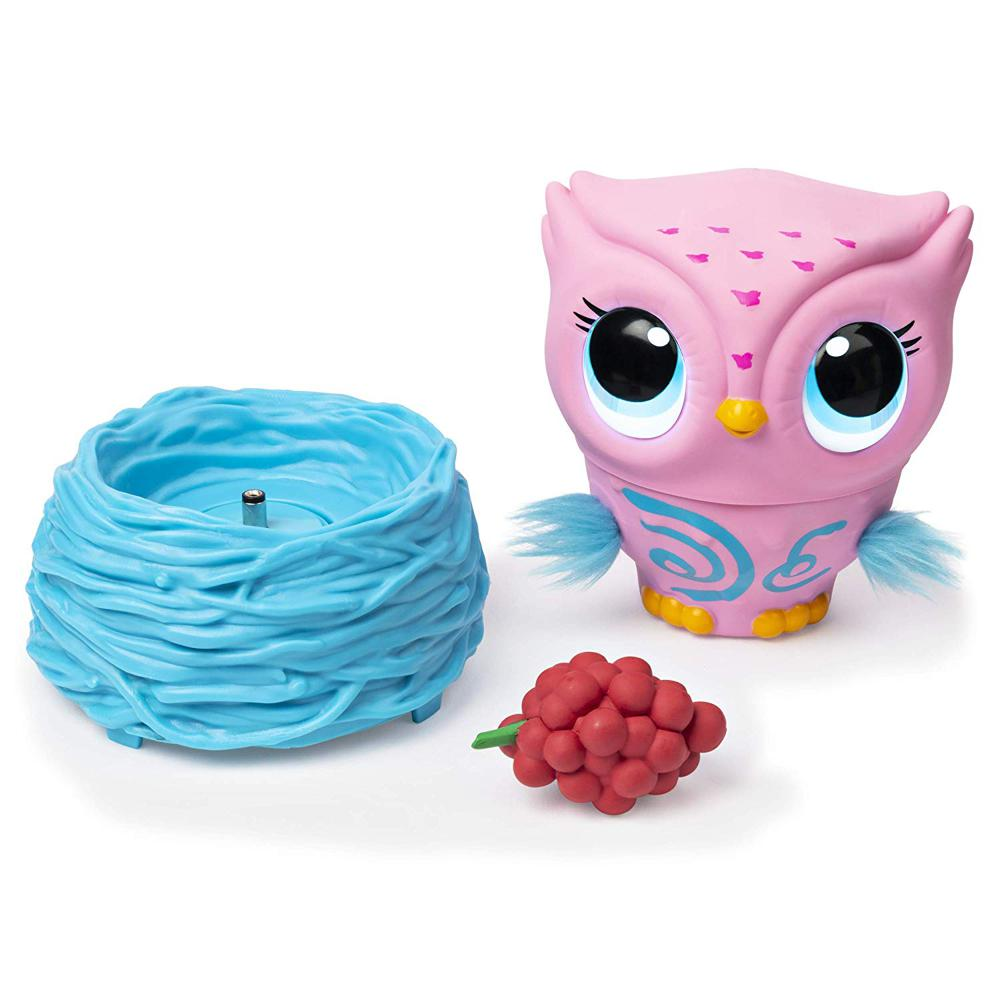 Owleez - Hibou téléguidé interactif rose