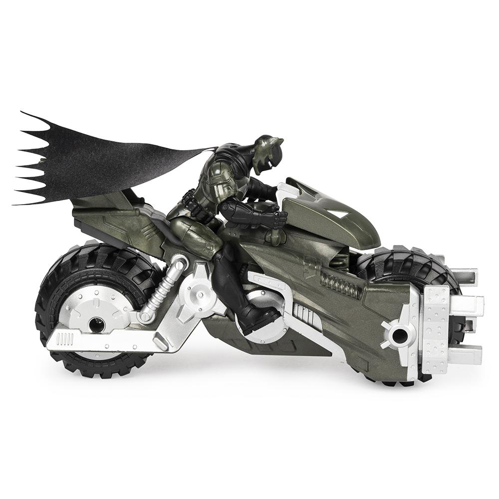 Batman - Batcycle avec figurine 10 cm