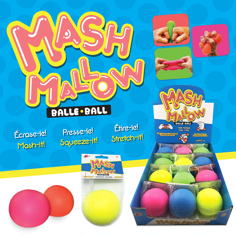 Balle anti-stress mash mallow 4 S