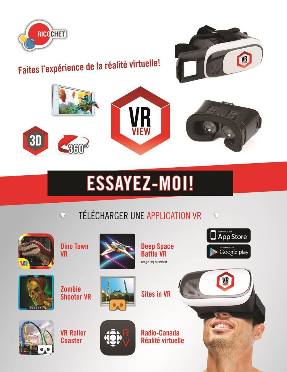 Lunette de réalité virtuelle VR View