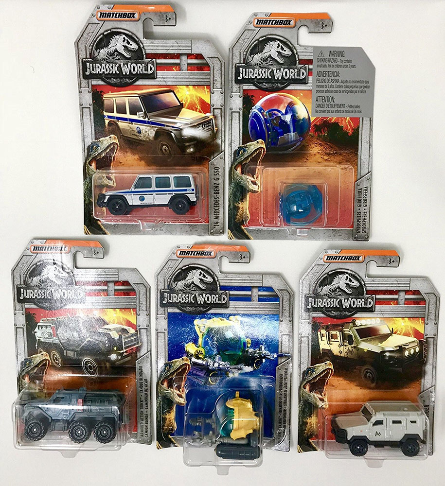 Matchbox Jurrasic World Voiture de collection assorties