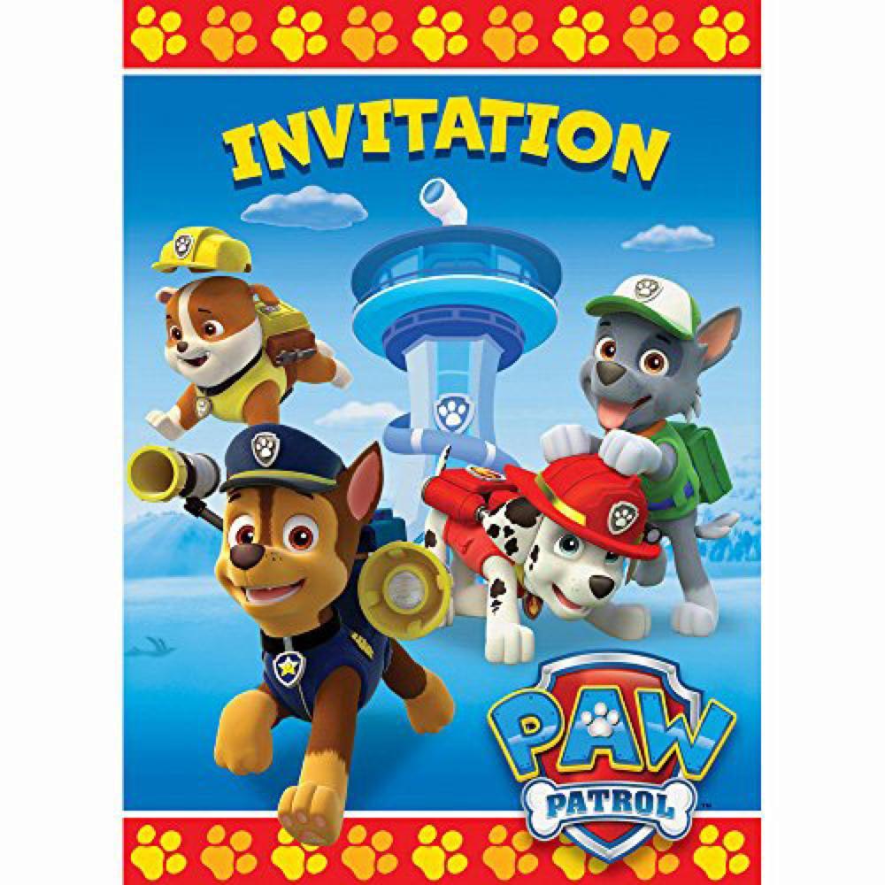 Pat'Patrouille 8 invitations