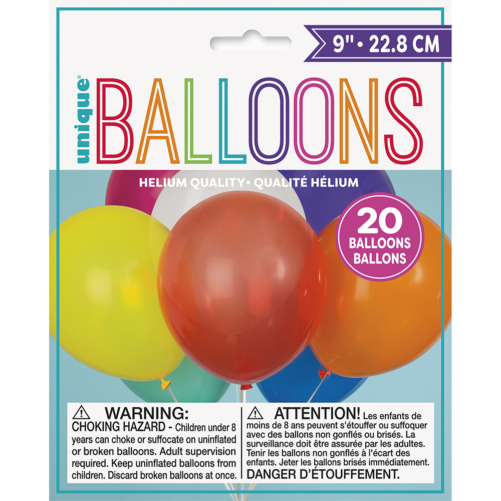 Ballons 9 pouces assortis