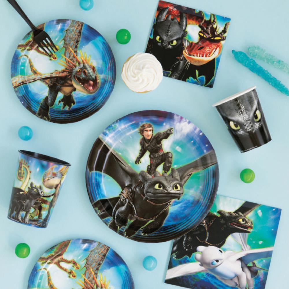 Dragons - Verre en plastique