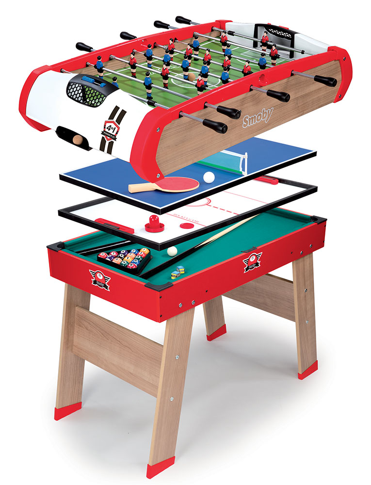 Smoby Table de jeu 4-en-1 Power Play