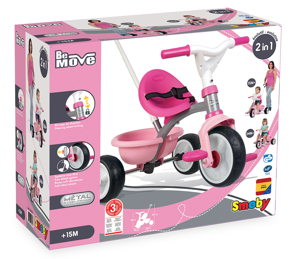 Smoby - Tricycle Be Move Rose