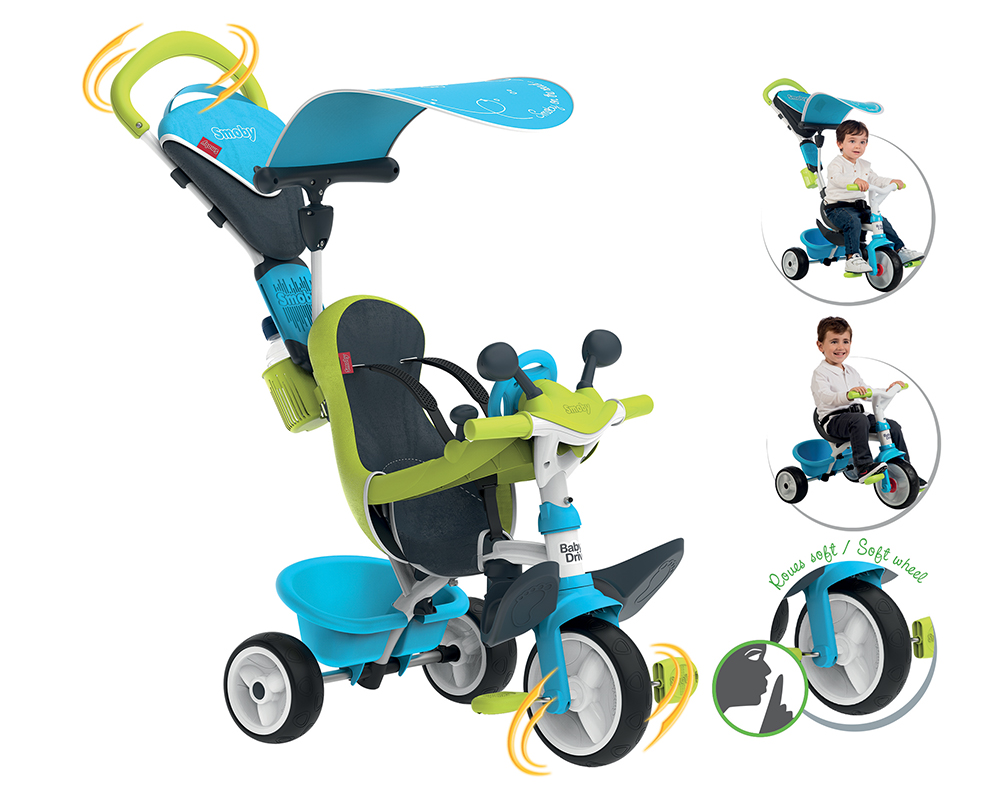 Driver Smoby Smoby Tricycle Smoby Driver Bleu Tricycle Tricycle Bleu Baby Baby kiuXZP