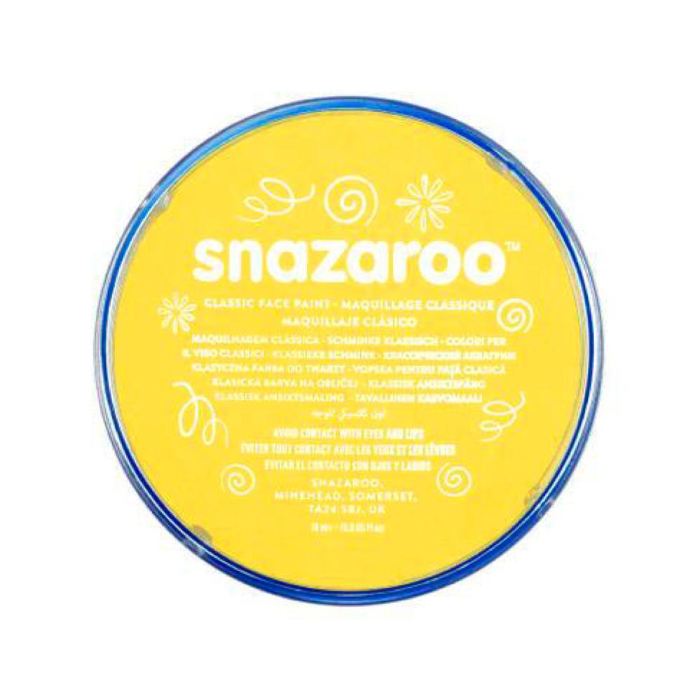 Snazaroo maquillage en pastille 18 ml jaune brillant