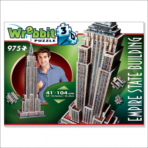 Wrebbit Casse-tête 3D Empire State Building 975 Pièces