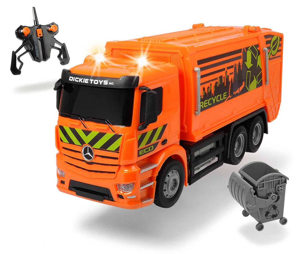 Dickie - Camion de vidange téléguidé Sons et lumières 1:26