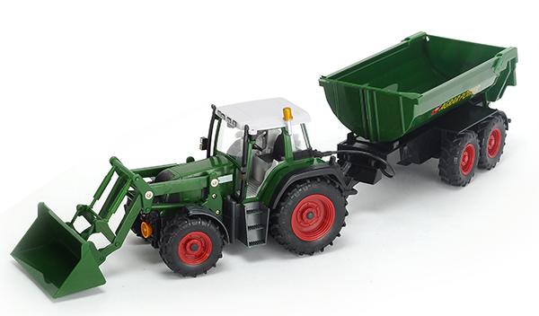 Dickie - Téléguidé Tracteur et remorque 1:12