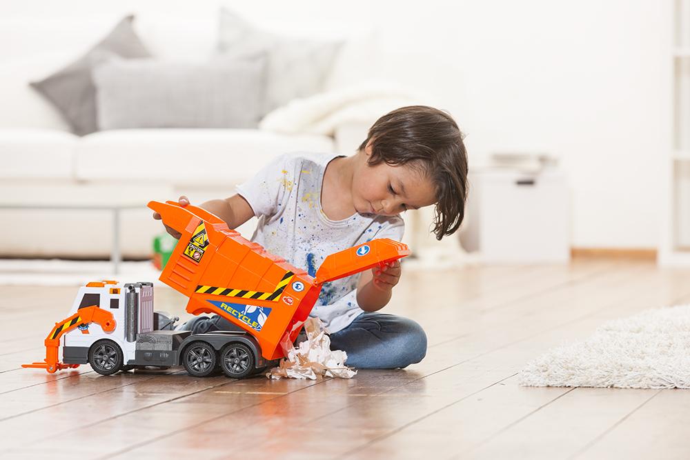 Action series - Camion de vidange Sons et lumières 46 cm