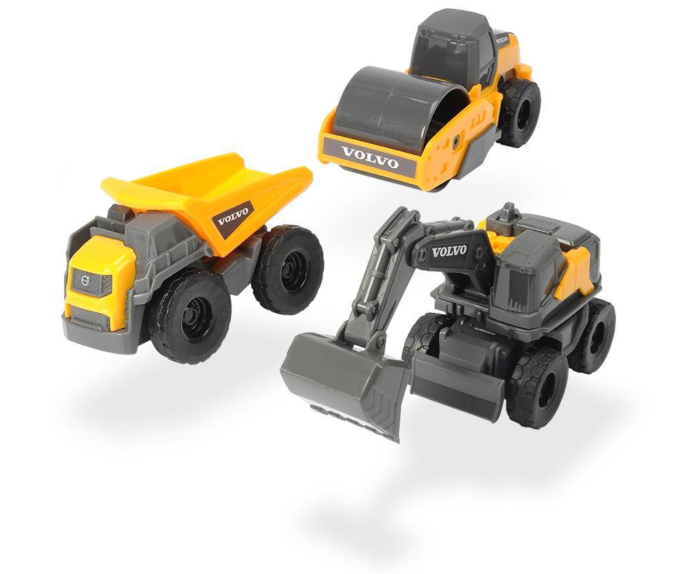 Dickie - Volvo Micro Builders 3 pièces, 9 cm assortis