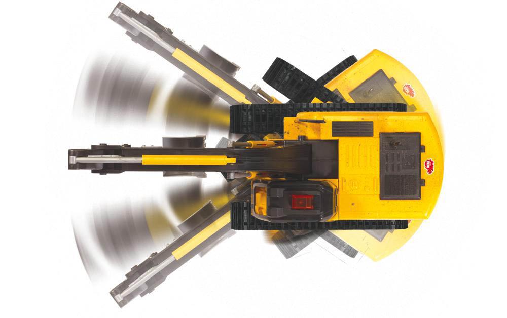 Dickie - Excavateur roulant téléguidé avec fil 70 cm