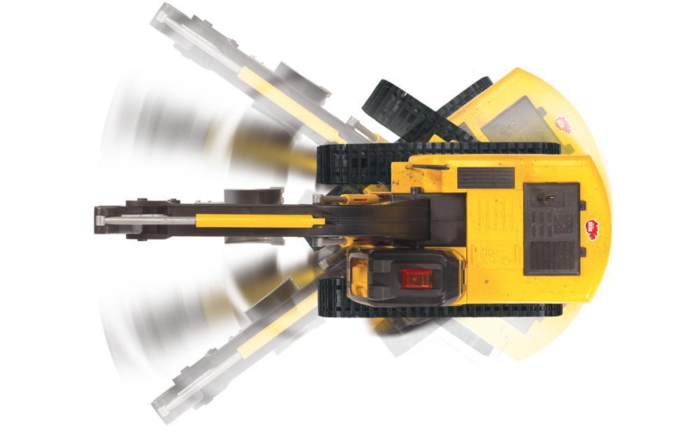 Dickie - Excavateur roulant téléguidé avec fil Sons et lumières 70 cm