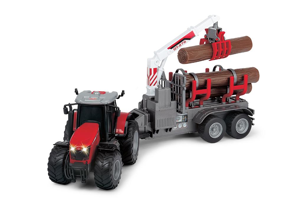 Dickie - Farm Tracteur Massey Ferguson 8737 Sons et lumières 42 cm