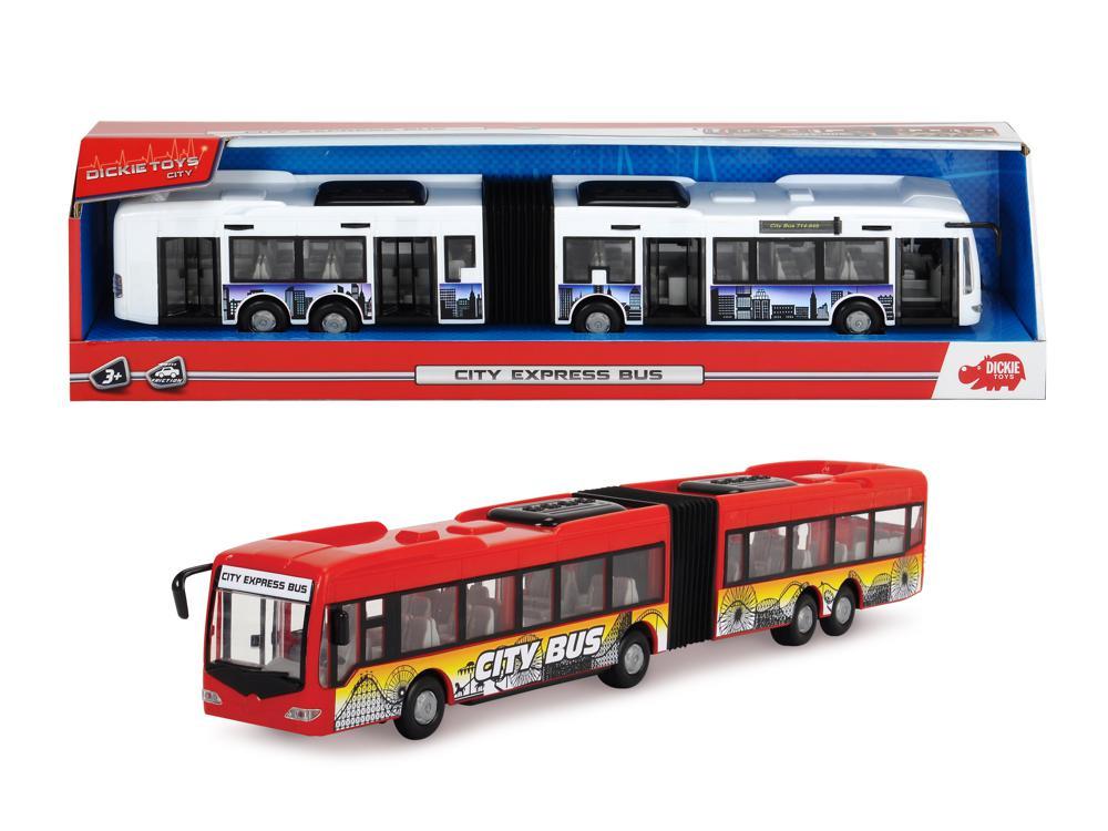 Dickie - City Autobus de ville 46 cm 2 couleurs assorties