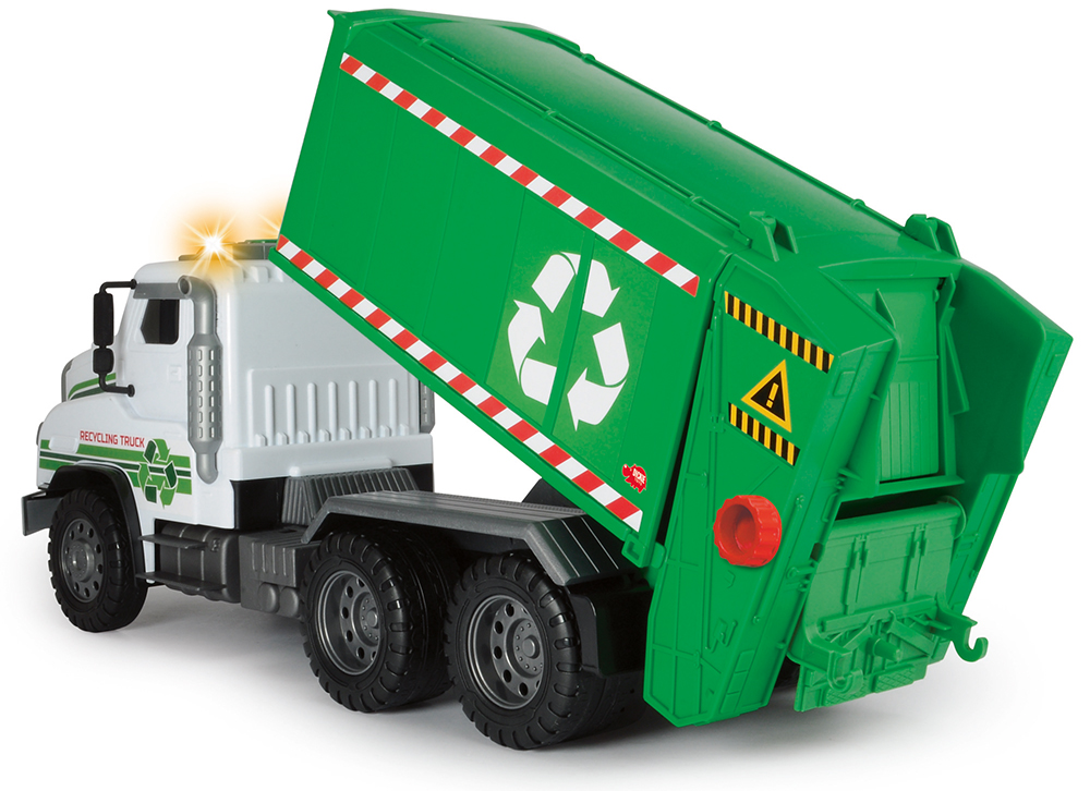 Dickie - Giant Camion de recyclage Sons et lumières 55 cm