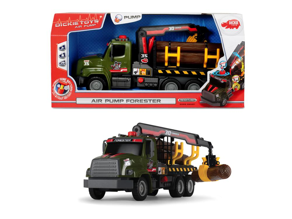Dickie - Air Pump Camion forestier 32 cm