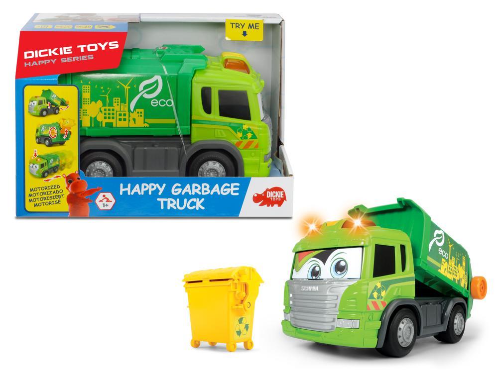 Dickie - Happy Camion de vidange Sons et lumières 25 cm