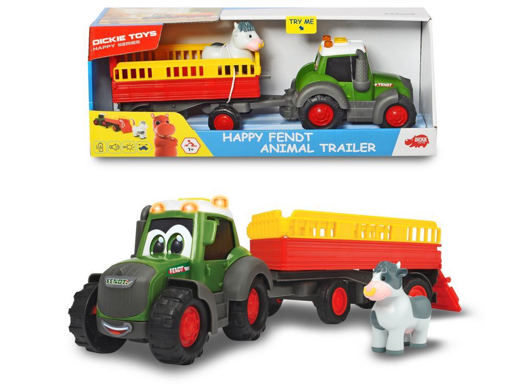 Dickie - Happy Fendt Transporteur d'animaux  Sons et lumières 30 cm